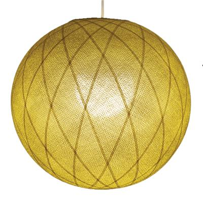 GLOBE ART DECO 36 cm Moutarde